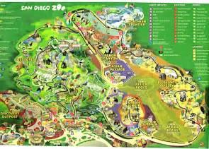 San Diego Zoo Map by San Diego Zoo San Diego Ca California Beaches