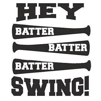 hey batter swing trendy tees