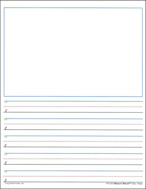 printable lined paper for pre k 6 best images of printable primary writing journal paper