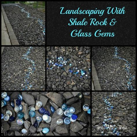 Garden Shale Rock Landscaping With Shale Rock And Glass Gems Rocks The O Jays And Landscaping