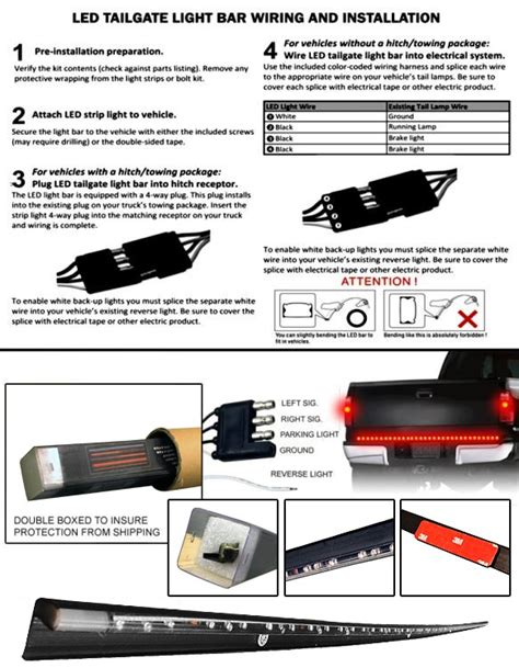 anzo led tailgate light bar wiring diagram wiring