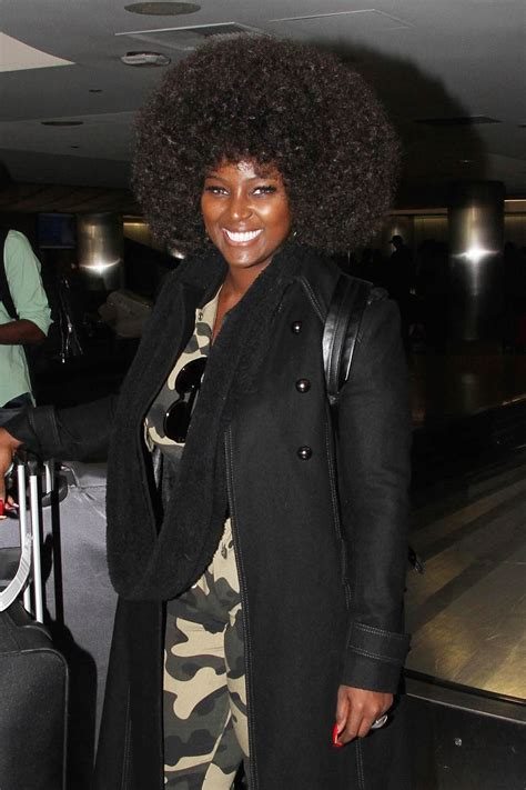 amara la negra arrives  la   afro wig  full
