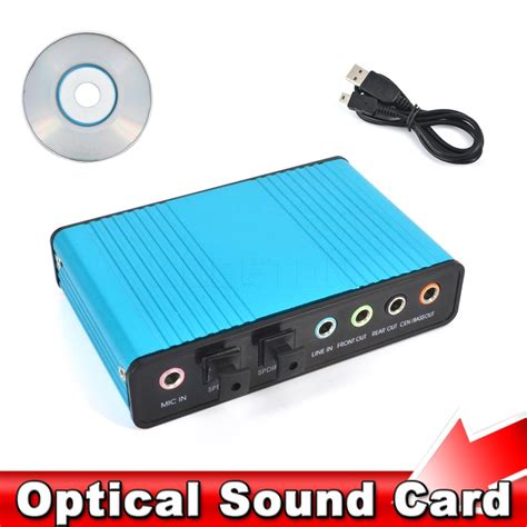 Usb Card Pc usb 2 0 sound card 6 channel 5 1 optical external audio