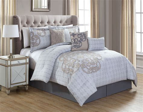 taupe comforters 7 piece north gray taupe comforter set