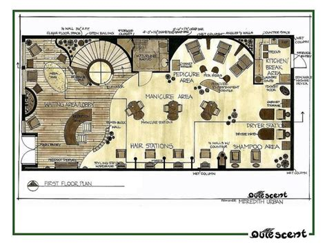 salon and spa floor plans portfolio by meredith veen at coroflot