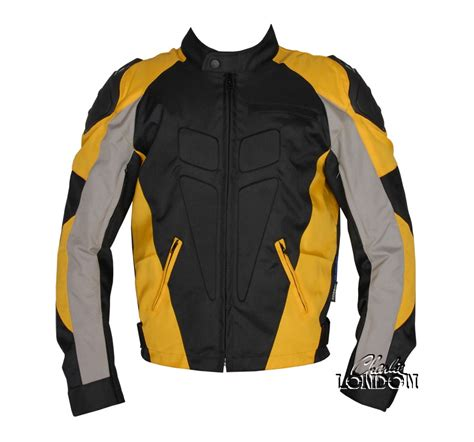 motorcycle jackets for men with armor men s fabric jacket 171 charlie london leather jackets for