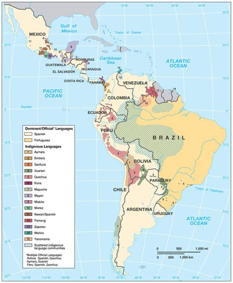 5 themes of geography latin america physical geography of latin america