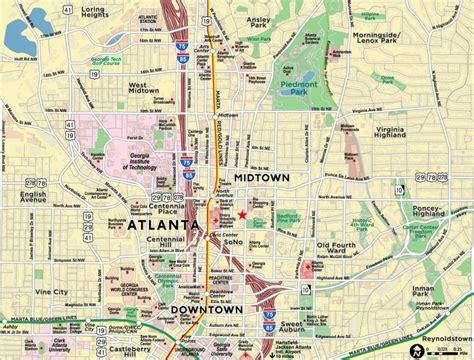 us map atlanta midtown atlanta map map of midtown atlanta united