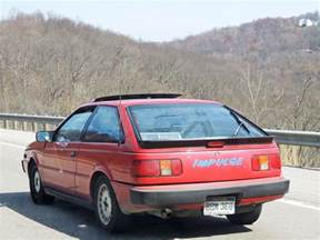 Isuzu Impulse In Motion Classic 1988 Isuzu Impulse A Thoroughbred