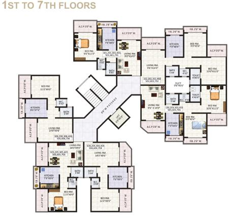 floor plan com jewel arista by capricorn properties 1 2 bhk apartmnets