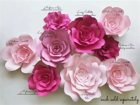 Paper Flower Kit - paper flower kits paperflora