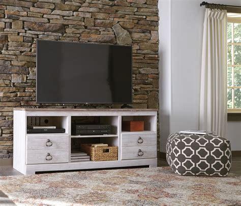 whitewash tv stand willowton whitewash lg tv stand w fireplace option