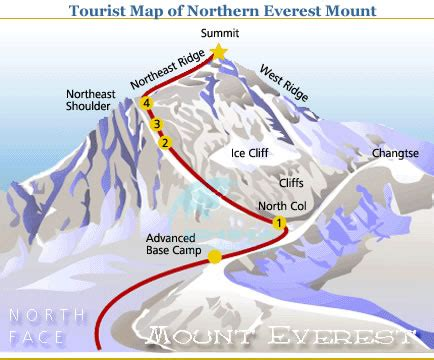 mt everest map map of everest mount northern