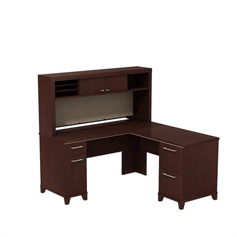 60 Inch L Shaped Desk Bush Business Enterprise 60 Quot L Shaped Desk In Harvest Cherry Ent007cs