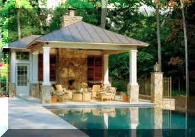 swimming pool house builders cabanas contractor company cost