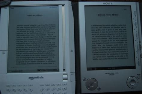 reader vs reader up to kindle vs sony reader sizemodo and interface comparison gallery