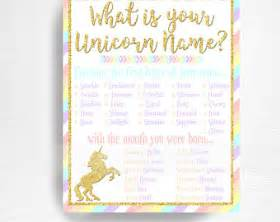Baby Nursery Wall Stickers Uk unicorn name etsy