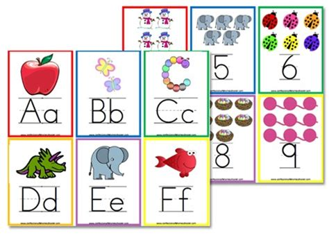 kindergarten printable numbers flashcards alphabet flashcards wall posters confessions of a