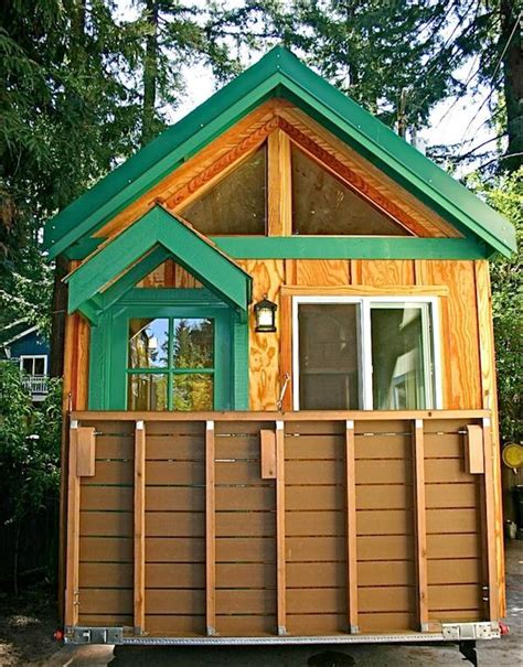 Tiny House Deck by Tiny House With A Flip Up Porch