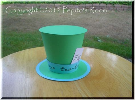 mad hatter hat template print ink in top hat color by pepitosroom