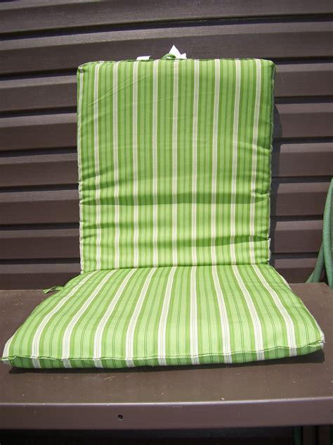 striped patio cushions 6 new green and white striped outdoor patio cushions ebay