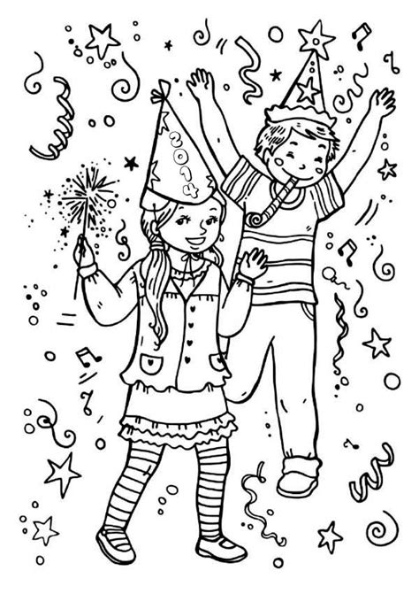 noise maker coloring page new years noise maker coloring page coloring pages