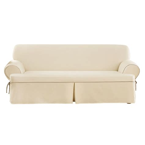 Slipcovers T Cushion Sofa sure fit cvc contrast cord duck t cushion sofa slipcover