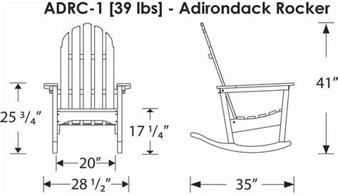 rocking chair dimensions standard polywoodfurniture gt polywood 174 adrc1 adirondack rocking