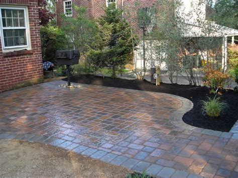 backyard with pavers back yard paver design ideas