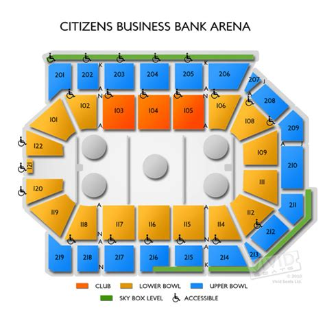 citizen bank arena seating chart citizens business bank arena tickets citizens business