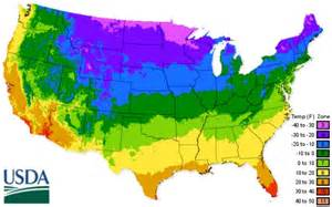 usda garden zones united states department of agricultural map