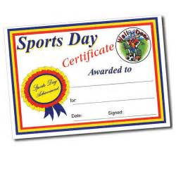 Sports Day Certificate Templates Free Sports Day Certificate A4 Certificates Pack Of 10