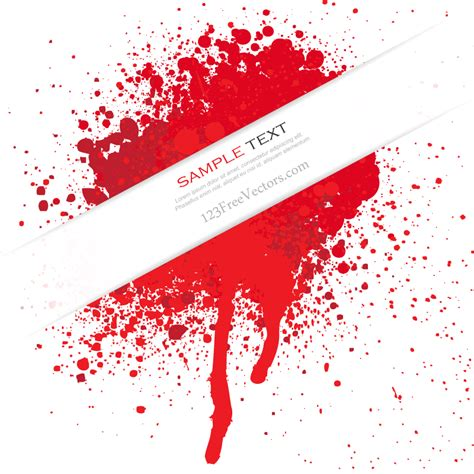 blood paint blood splatter vector free free vector