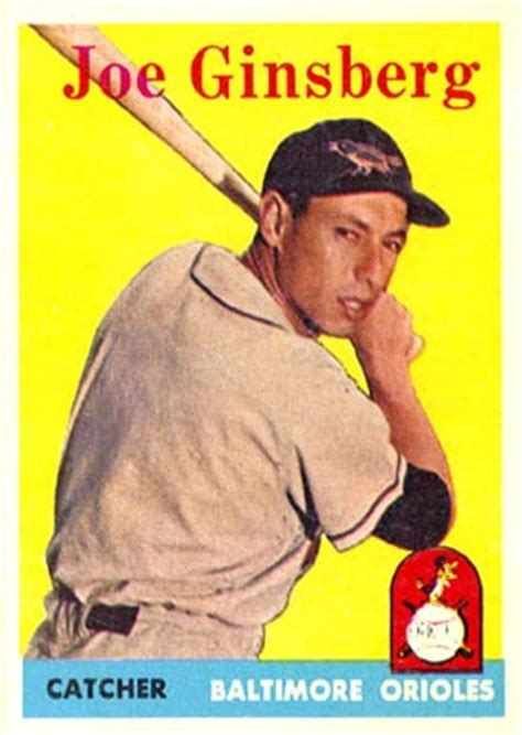 joe ginsberg 1958 topps joe ginsberg 67 baseball card value price guide