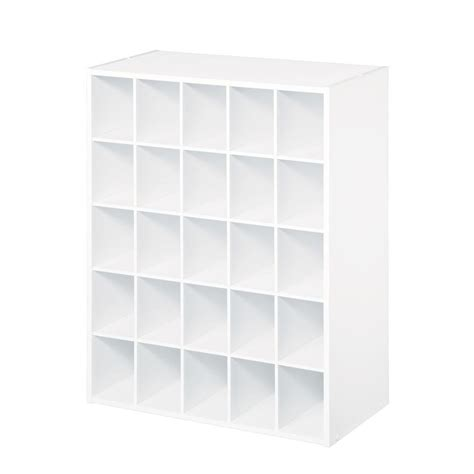 Closetmaid 25 Cube Organizer closetmaid 24 in w x 32 in h white stackable 25 cube organizer 78506 the home depot