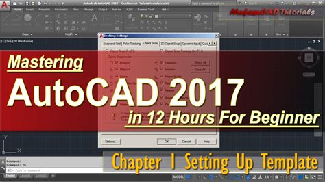 Autocad 2017 Setting Up Template For Beginner Course Chapter 1 Youtube Autocad 2017 Templates