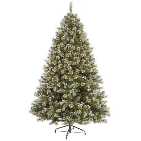65ft frosted pre lit artificial christmas trees 9 pre lit frosted mixed pine artificial tree clear lights walmart