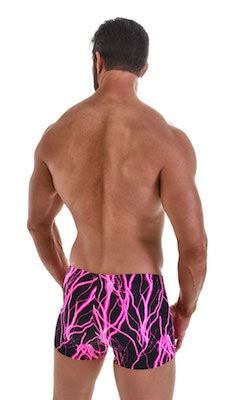 Boxer Pink Square skinz seamless boxer swimsuits