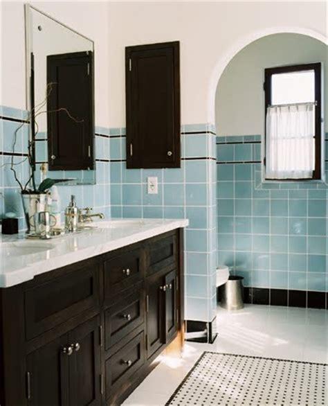 blue and black bathroom ideas cococozy bath week reviving retro style in a modern