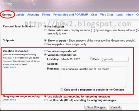 Out Of Office Gmail how to set out of office autoresponder auto reply in