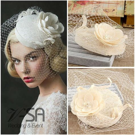 Vintage Style Wedding Hair Accessories Uk by Uk Vintage Style Princess Bridal Hats Linen Wedding Hair