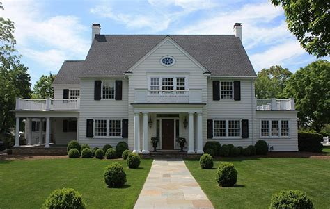 white colonial homes colonial home exterior traditional home exterior