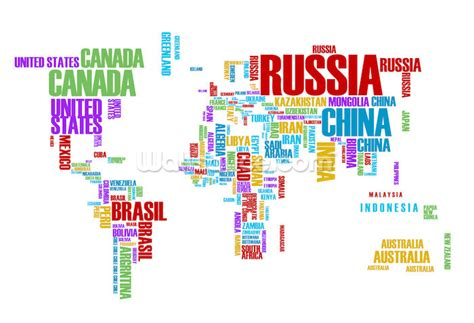 Wall Murals Maps colourful word cloud map wallpaper wall mural wallsauce usa