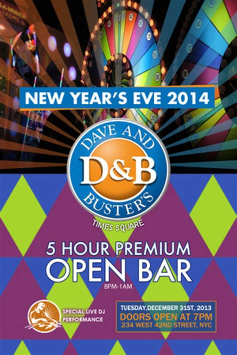 k new year 2014 dave buster s new years 2014 dave and buster s