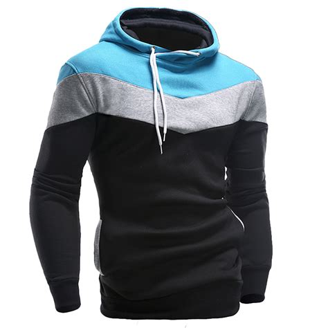Patchwork Hoodie - new 2016 mens hoodies and sweatshirts patchwork hoodies