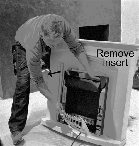 Remove Fireplace Insert by Electric Fireplace Makeover Get Your Electric