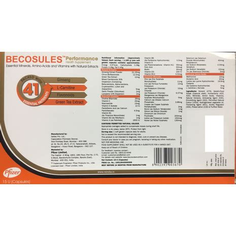buy becosules performance health supplement  capsules   rxindiain