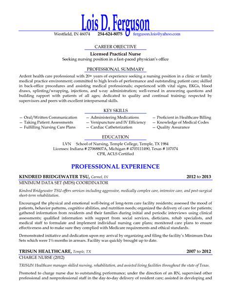 Licensed Practical Nurse Seeking Nursing Position Resume