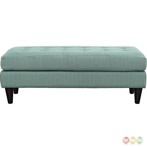 Tufted Accent Bench Empress Modern Upholstered Bench With Button Tufted