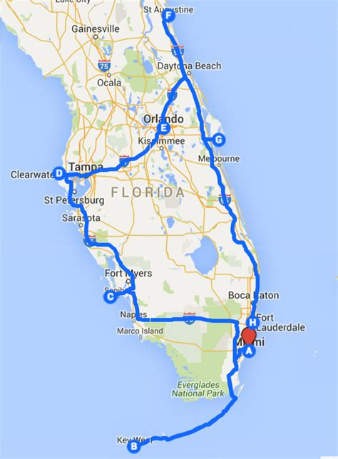 road map florida uncover the florida road trip